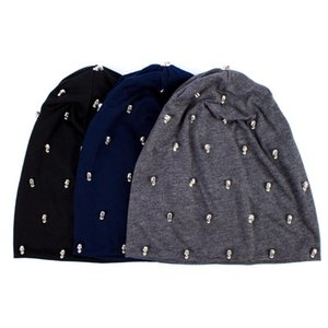 Women's Skullies Beanies Hat Spring Casual Cotton Slouchy Beanie Hats for Women Ladies Hip-hop Style Skullies Hat Knitted Caps