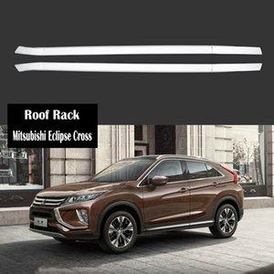 Rack de teto Para Mitsubishi Eclipse Cruz 2018 2019 2020 Racks Rails Bar bagagem portador barras superiores Racks Rail caixas de alumínio + ABS