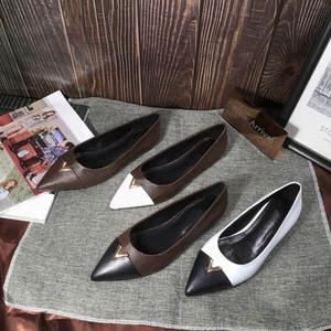 HEART Ballerinas spitzen Zehe Frauen Luxusschuhe niedrigen hallo Frau Designer-Schuhgröße 35-41 Modell YS0105