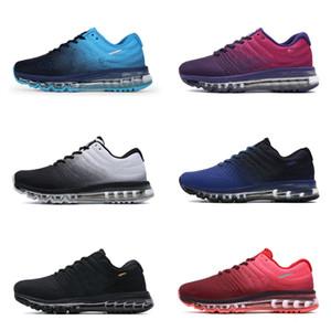 High Quality Mens Air 2017 Breathable Ineinander greifen Betrieb Sports Schuhe Günstige Marke 2020 Mann Frauen fliegen Schwarz Weiß Rot Blau Trainer Turnschuhe