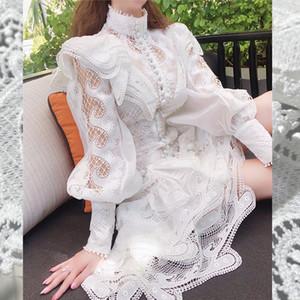 French court dress annual meeting holiday super fairy new style elegant elegant elegant Retro Lace Skirt Long Style