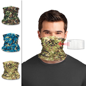Outdoor Camouflage Cycling Mask Sun Protection Face Cover Adult Magic Scarf Camo Cycling Bandana without Mask Filter 22*32cm CCA12170 30pcs