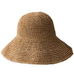 Summer Women Sun Hat Sweet Retro Foldable Straw Hats Girls Beach Panama Hats Vacation Sun Visor Hats