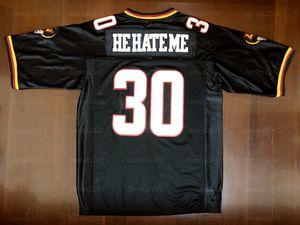 "Rod Smart ""Él me odia"" Los Outlaws de Los Vegas # 30 Jersey de fútbol masculino Negro S-3XL Alta calidad Envío gratis"