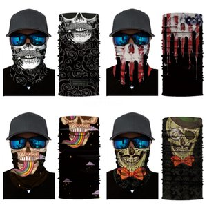 Tie Dye Magic Cycling Skull Scarf Mask Outdoor Headskull Scarf Sport Wind Cap Magic Turban Motorcycle Face Masks Party Masks #825#745