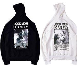 Mens Designer Hoodies Travis Scott Mom olho eu posso Personalizado Hoodie Casual High Street marca de moda moletom com capuz