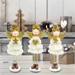 Noel Doll Daimi Angel Wings Sevimli Melek Peluş Bebek Noel Duvar Dekoru Ev Süsler kolye Çocuklar Noel Hediyeleri