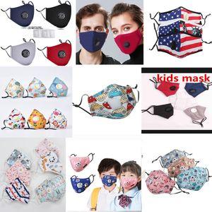 Masques Designer Cyclisme visage masques enfants masque protecteur facial respiratoire PM2,5 Valve masque facial anti-pollution activée filtre à charbon Masque lavable