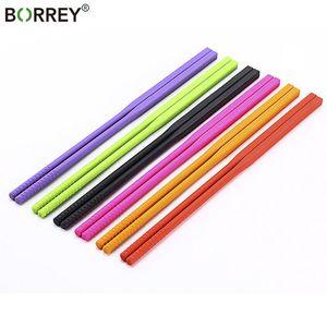 Borrey Food Grade Silikon Chopsticks Seti Kore Chopsticks Kaymaz Karşıtı Haşlanma bulaşığı İç Paslanmaz Chopstick Hashi T200227