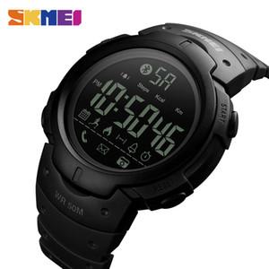 Skmei Moda Reloj Inteligente Hombres Calorías Reloj Despertador Relojes Bluetooth 5bar Impermeable Reloj Digital Inteligente Relogio masculino 1301 Y19051703