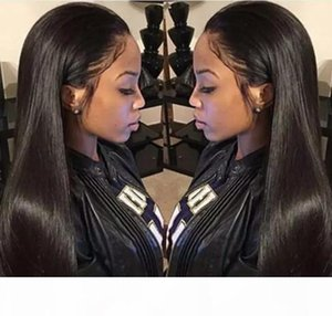 100% Brazilian Virign Remy Human Hair Free shipping 10-28 inch STOCK Silky Straight African American Glueless Full Lace Wig Front Lace Wig