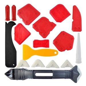 18pcs Calafataggio strumento del kit, sigillanti Strumenti sigillante siliconico rifinitura con utensile Grout raschietto Caulk Remover Caulk ugello e Cap