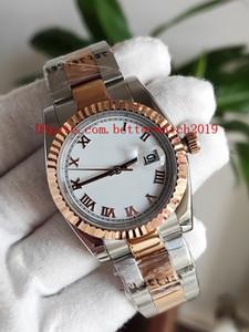 Novo Luxo de Alta Qualidade Mulheres Assista 36mm 116231 Datejust Branco Dial Numerais Romanos 18K Rose Gold Sapphire Mens Automático Assista