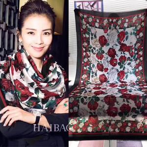 Red White Rose 300 Branch Cashmere Anello puro velluto sciarpa lunga del tovagliolo Lady sezione sottile Tenere Joker caldo