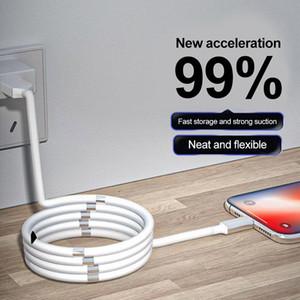 유형 C 충전 케이블 1m 고속 타입 C 케이블 OEM 품질의 실리콘 충전 전화 케이블 자기