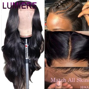 Lumiere 4x4 Lace Closure Wigs Human Hair Brazilian Body Wave Lace Wigs for Black Women Pre Plucked with Baby Hair Remy