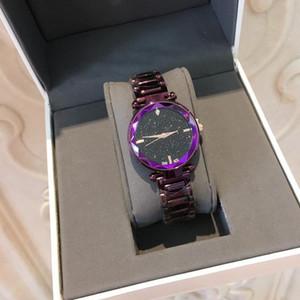 2019 Hot Sale Women Watch Fashion Luxury Purple blue Steel Famous Design Relojes De Marca Mujer Lady Dress watches Relojes De Marca Mujer