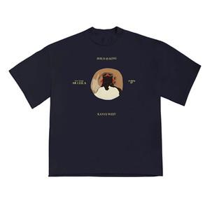 2020 Ins Hot Spring verão americano Chicago limitada Jesus é rei 45 t shirt Skate Mens designer de t Mulheres Rua Casual Camiseta