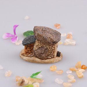 Оптовая продажа-Кукольный дом микро MiniatureDollhouse дом сказочный сад коттедж пейзаж DIY Дизайн ремесла 4 типа