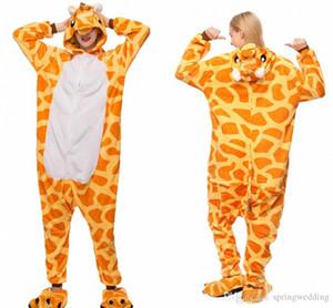 Una mujer piezas de pijamas animal ocasional pijama con capucha suave Homewear franela ropa de noche femenina linda de pijamas MC0646