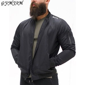 GYMJAM nouveau printemps vêtements vestes streetwear jogger occasionnels hommes veste zippée mode pour homme