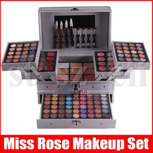 Miss Rose Макияж Kit Полный профессиональный макияж Набор Big Box Косметика для женщин 190 Цвет Макияж Наборы Рождественский подарок