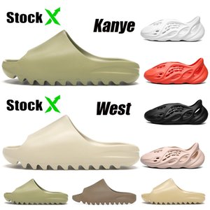 Orignals Kanye west 2020 Fashion Resin Bone Earth Brown Desert Sand EVA Foam Runner Kanye West Slides Stock x Hombres Mujeres Niños Niños Zapatillas Sandalias