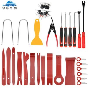 65pcs / set Portable Auto Car Radio Panel Clip Plane Trim Dash Audio Removal Tools Installer Pry Kit Repair Tool