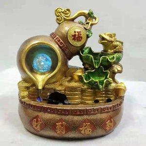 Yiwu reçine akan su el sanatları yaratıcı iç dekorasyon Rockery Ev furnishinghome dekorasyonu çeşme suyu akan rockery