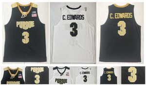3 Carsen Edwards Purdue Boilermakers Jersey Bianco Verde 100% Stitching NCAA College Basketball Maglie