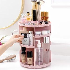 Rotating Lipstick Stand Cosmetic Case Bathroom Skin Care Product Plastic Storage Box Cosmetic Storage Box