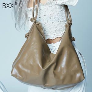 [BXX] Cuoio Tinta unita Quilted Crossbody Borse per le donne 2019 di moda nodo di spalla Messenger Bag Lady viaggi Borse A221