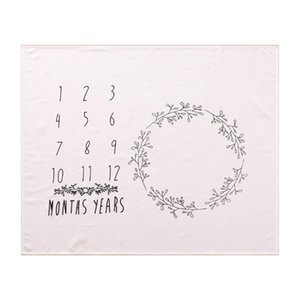 New Baby Milestone Blanket Newborn Photo Background Cloth Infants Monthly Record Growth Swaddle Wrap Photography Props