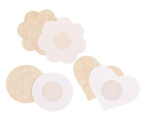 Ultrathin Womens Sexy Disposable Satin fabric Nipple Cover breathe freely Patch Breast Nipple Pad Petals Sin bra 10pcs pack