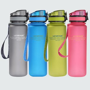 45 # 650ml Portable 1000ml Uzspace Sport Serrure Couverture bouteille d'eau portable Camp Randonnée bouilloire en plastique
