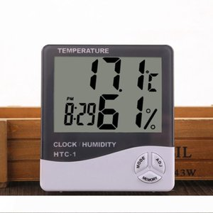 Digital LCD Humidity Meter Thermometer With Clock Calendar Alarm Battery Powered Temperature Hygrometer Household Precision Clock VT1373