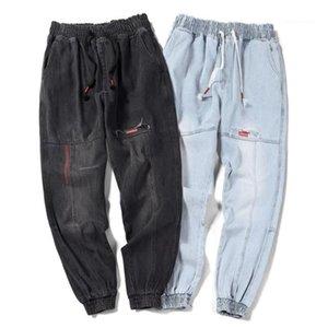 Harem Jeans Primavera casuale Jogger pantaloni si slaccia più Hiphop Jean Pantaloni Chic Men Adolescente