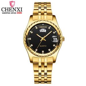 Chenxi Femmes Luxe Quartz Montres Mesdames Or Acier inoxydable Bracelet de haute qualité Casual montre étanche Cadeau pour Femme