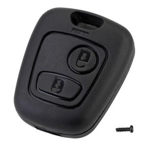 2 botón del control remoto Fob caso dominante llave del coche de Shell sustitución cubierta para Citroen C1 C2 C3 C4 Xsara Picasso Para Peugeot 307 107 207 407