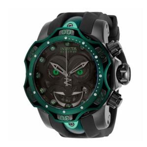 Invicta Modelo Reserva - 30064 DC Comics Joker Venom Edición limitada de cuarzo suizo Chronograp correa de silicona reloj de cuarzo