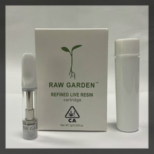 Raw Garden Пустого картриджи 0,8 мл 1,0 мл 510Thread Упаковка Керамических Coil Советы Vape Картридж испаритель Сырой сад Тележка