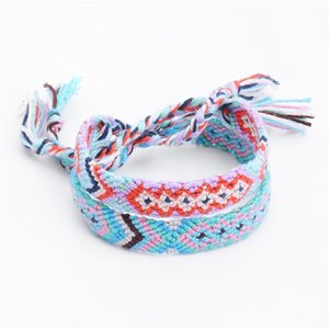 5PCS Young Ladies e Mens Best Lucky Gift Jewelry 3 Styles Handmade Bracciale in cotone arcobaleno