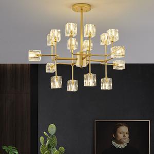 Teto moderno Fashional G9 Led Chandelier Black Gold Chandelier Lâmpada para o Quarto Sala Villa Decoração Iluminação interna