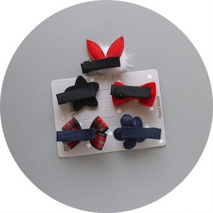 baby headbands for girl 5Pcs Kids Infant Hairpin Baby Girl Bow Flower Barrettes Star Hair Clip Set Acessorios Infantil