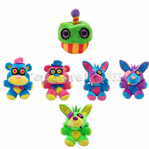 2019 Neue Kids Five Nights bei Freddy's Plüschtiere Toy 6 Models Bunte Freddy's Plüschtiere