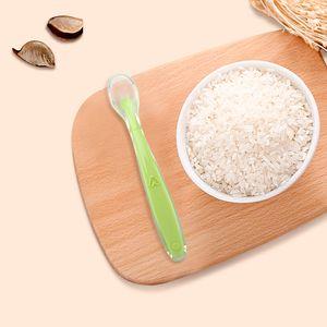 Portable Baby Soft Silicone Spoon Temperature Sensing Spoon Children Food Baby Feeding Tools