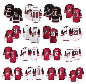 NHL Arizona Coyotes Jersey 19 Shane Doan 23 Oliver Ekman-Larsson 81 Phil Kessel 97 Jeremy Roenick 9 Clayton Keller 데릭 스테판 하키