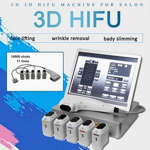 2020 Protable 3D HIFU Schönheit Maschine Falten entfernen Hautstraffung HIFU-Maschine 3d HIFU Face Lifting-Maschine 10000 Schüsse