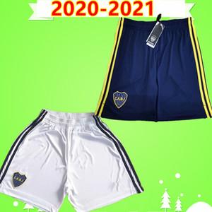 TOP Tailândia 2020 2021 NOVO Argentina Clube Boca Juniors calções de futebol adultos mens casa azuis calças de futebol afastado brancos 20 21 GAGO CARLITOS