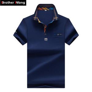 Designer Men 's Polo mode Hit couleur Lattice Casual Col pur Couleur Paul Shirt Marque Polo MASCULIN Vêtements amples